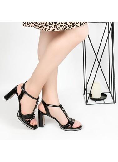 Pandora Sl668 9 Cm Topuklu Bayan Abiye Stiletto Ayakkabı Siyah